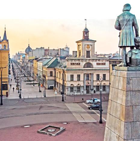 Widok na Łódź