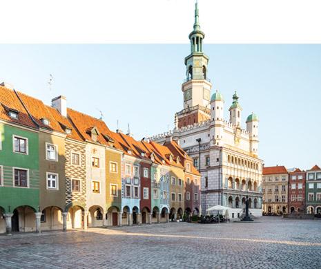 Widok na rynek w Poznaniu