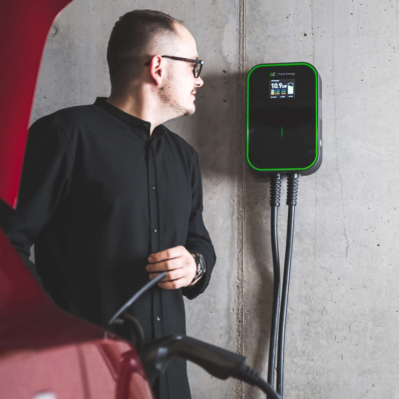 Wallbox Green Cell EV PoweBox - aranżacja w garażu