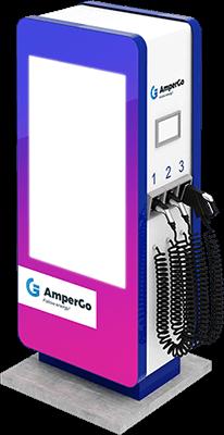 Ładowarka AmperGo EVA max Advert DC widok z boku