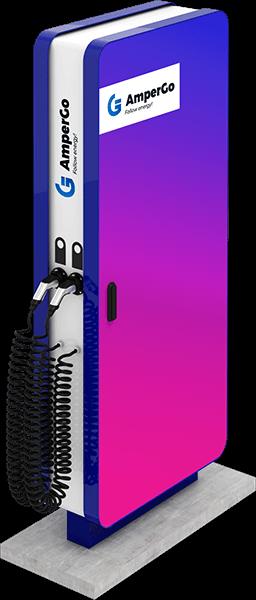 Ładowarka AmperGo EVA Advert AC widok z boku