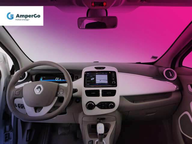 Renault Zoe - wnętrze samochodu elektrycznego