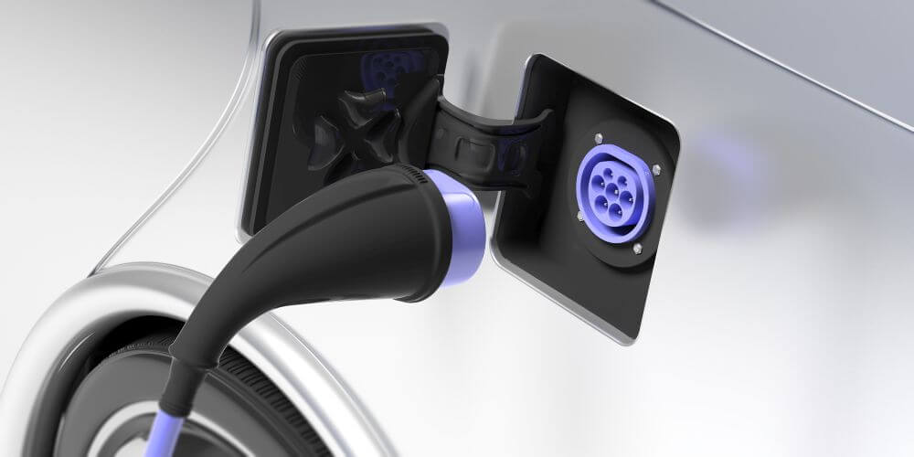 wtyczka typu 2 w samochodzie elektrycznym